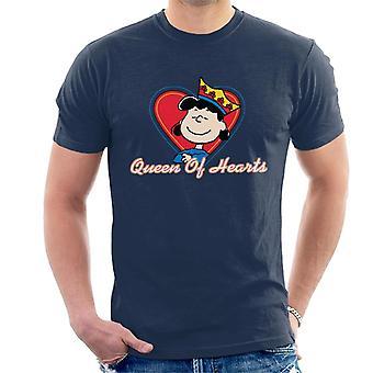 Jordnötter Lucy Van Pelt Queen of Hearts Män & apos; s T-shirt