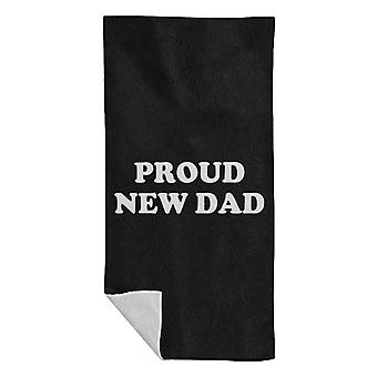 Proud New Dad Beach Towel