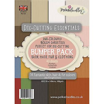 Polkadooodles Die-Cutting Essentials Pare-chocs A5 Paper Pack