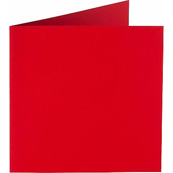 Papicolor 6X Double Card 132X132mm Red