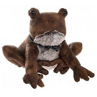 Faux Leather Sitting Frog Doorstop