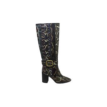 Coach Women's Shoes Evelyn stripe bot re Almond Toe Knee High Fashion Boots