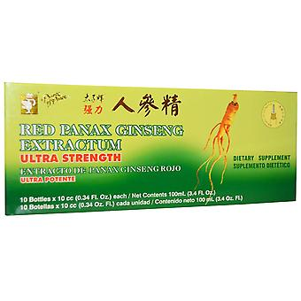 Prince of Peace, Red Panax Ginseng Extractum, Ultra Strength, 10 Bottles, 0.34 f