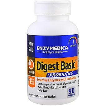 Enzymedica, Digest Basic + Probiotiques, 90 Capsules