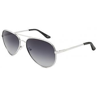 Sunglasses Women's Diamond Aviator Polarized Silver (p664dia12)