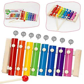Imitat Music Instrument Wooden Frame Xylophone Educational Kids Toys Gifts With 2 Mallets (multicolor)
