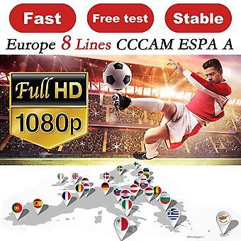 CCCAM ESPA A Cline for 1-Year Europe 8-Clines Oscam Stable Ccam ESPA A-Server Spain-Portugal-Germany-Poland Receptor-Satellite