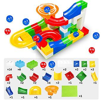 52 Pcs Diy Gaming Building Blocks, Construction Marble Race Run Maze Balls