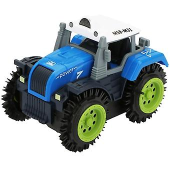 Kinderen Flip Car Toy Electric Stunt Farmer Car Child Dump Truck Simulation 4 Wheel Drive Elektrische Speelgoed Auto (willekeurige kleur)