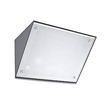 leds-c4 curie glass - 1 lys utendørs vegg lys urban grå IP65, E27