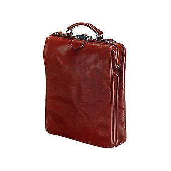 Leather Backpack - On The Bag - Chestnut