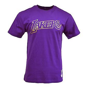 Mitchell & Ness Midas Tee Los Angeles Lakers BMTRBW19104LALPURP camiseta universal de homens de verão