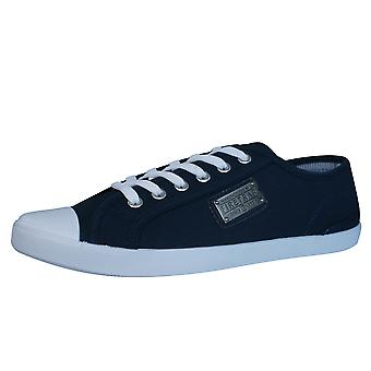 Firetrap Charlie Plate Mens Canvas Trainers / Shoes - Navy