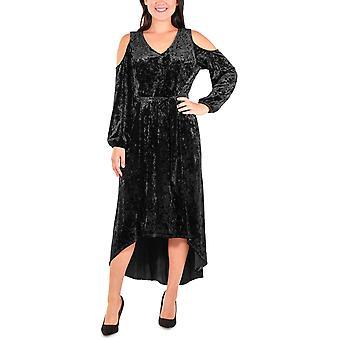 NY Collection Petite | Velvet Cold Shoulder Cocktail Dress