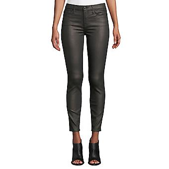 7 For All Mankind | Metallic Mid-Rise Skinny Ankle Jeans