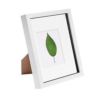 Nicola Primavera 8 x 10 3D Shadow Box Marco de fotos - Craft Display Picture Frame - Apertura de vidrio - blanco