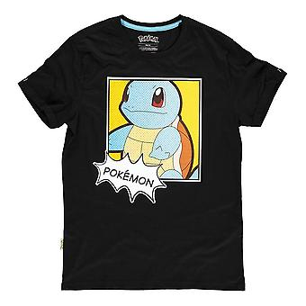 Pokemon Squirtle PopArt T-Shirt Male Small Black (TS465433POK-S)
