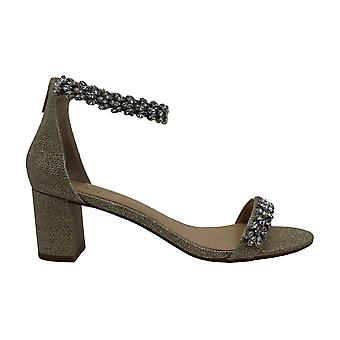 BADGLEY MISCHKA Women's Shoes Bronwen Fabric Peep Toe Casual Ankle Strap Sand...