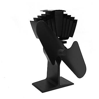 3 Blades Heat Powered Stove Home Silent Stove Fan