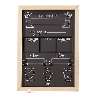 Baby Milestone Chalkboard Sign Keepsake Gift New Baby Shower