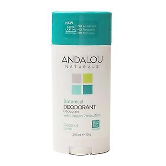 Andalou Naturals Coconut Lime Desodorante, 2.65 Oz