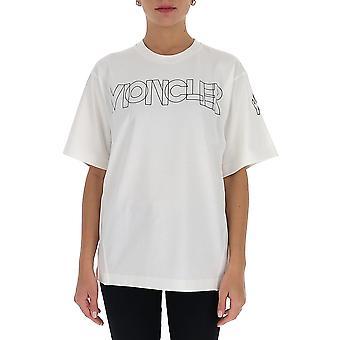 Moncler Grenoble 8c7018390t034 Women's White Cotton T-shirt