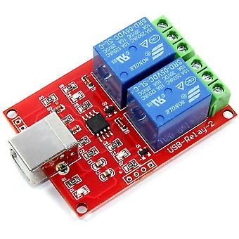 5V 2 Ch USB Red