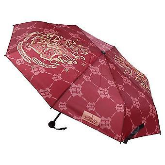 Harry Potter Hogwarts Logotipo Guarda-chuva compacto vermelho