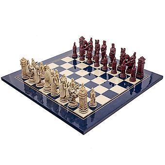 The Berkeley Chess Roman Blue Cardinal Chess Set