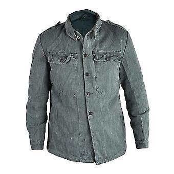 Schweizer Militär ausgestellt Denim Arbeit Shirt / Jacke Größe 52 Zoll