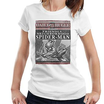 Marvel Spider-Man Daily Bugle Newspaper Front Page Women's T-Shirt