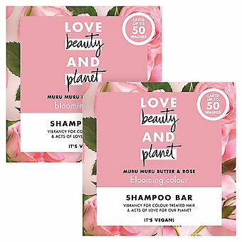 Love Beauty and Planet Blooming Colour Shampoo Bar, 2pk, 50wash