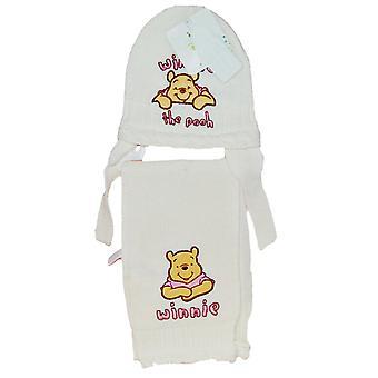 Winnie de Poeh hoed + sjaal Wit 46 cm