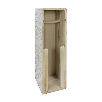 Rebecca huonekalut wc paperi puu nuhjuinen beige valkoinen kylpyhuone 59x19.5x19.5
