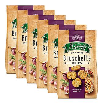 6 x 70g Bruschette Garlic Bread Chips Rosemary Oven Baked Snack Crackers Nibble