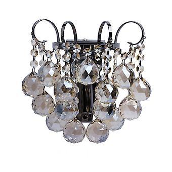 Crystal Gray Wall Light 1 Bulb 15 Cm