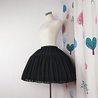 Pallo puku underskirt lyhyt mekko Cosplay Petticoat Sifonki Hinaus Luut Baletti