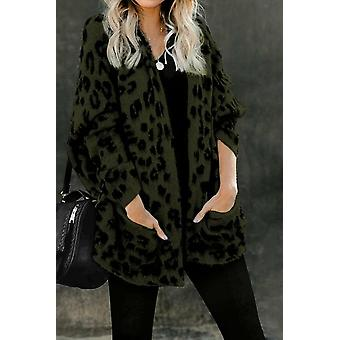 Leopard Pocketed Cardigan
