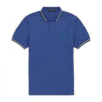 Polo Fred Perry Twin Tipped Fred Perry Shirt Blau