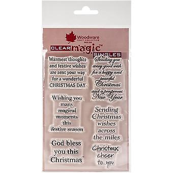 Woodware Klare Singler Christmas Cheer 4 i x 6 i Stempel