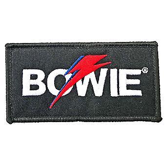David Bowie Patch Flash Logo nuevo Oficial Negro