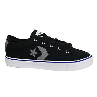 Converse Star Replay Ox Black Textile Low Lace Up Mens Trainers 164898C