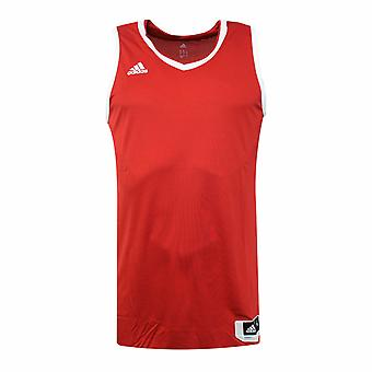 Adidas Essential Kit 3.0 Red White Polyester Mens Sleeveless Jersey AI4666 RW9