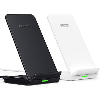 CHOETECH Wireless Charger 2-Pack, 7.5/10W QI Fast Charging Stand for iPhone 12 Pro/SE 2020