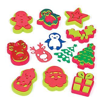 Pekár ross af808 vianočné lisy (balenie 10) umelecké a remeselné známky pre deti-ľahké pre deti