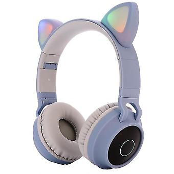 Led Cat Ear Headphones, Bluetooth 5.0 Noise Cancelling Headset