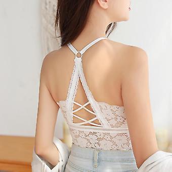 Women Hollow Out Bralette Beauty Back Lace Underwear Wireless Bra