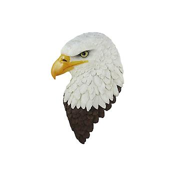 Hero American Bald Eagle Head Wall Mounted Statue 16.5 Inches High