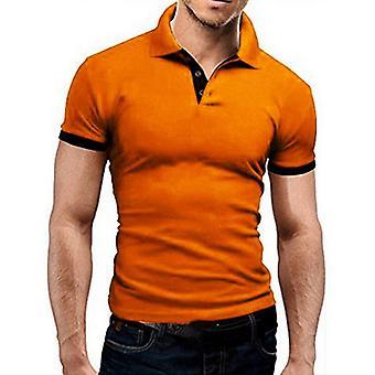 Ανδρικό πουκάμισο καλοκαιρινό κοντό μανίκι, πέρα από τις λεπτές κορυφές περιλαίμιων, περιστασιακή αναπνεύσιμη