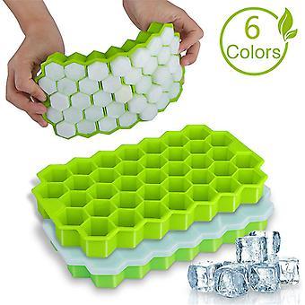 Plateaux honeycomb ice cube avec couvercles amovibles Silica Gel Ice Cube Mold BPA Gratuit